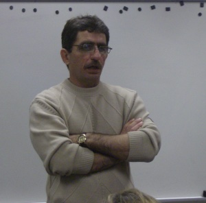 Ahmed Fadaam visited Janna Anderson's Reporting for the Public Good class on Oct. 24 to talk to her class about his experiences as a journalist. Fadaam became interested in journalism after his career as an artist was shattered because of the American invasion of Iraq.