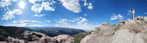 Atop the Flatirons.